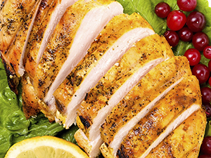 Sliced Cooked Chicken Breast