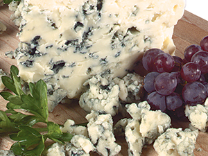 Blue Cheese Chunk with Red Grapes