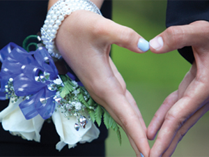 Corsage on Woman's Wrist