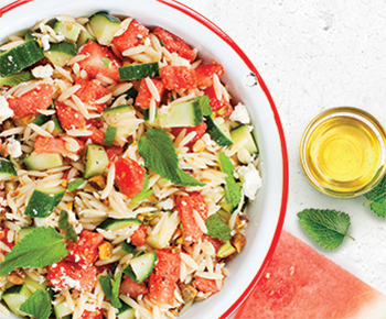 watermelon Orzo