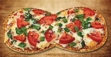 Flat Out Veggie Pizza