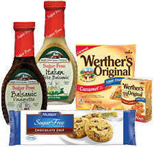 Salad Dressing, Sugar Free Cookies and a bag of Werther's Original