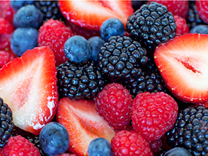 Collage of Strawberries, Blueberries, Raspberries, Blackberries