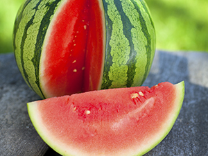 Whole Watermelon with Slice