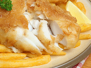 Plate of Fried Fish & French Fries