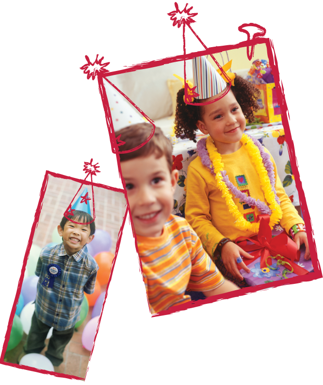 Kids In Pictures Wearing Birthday Hats